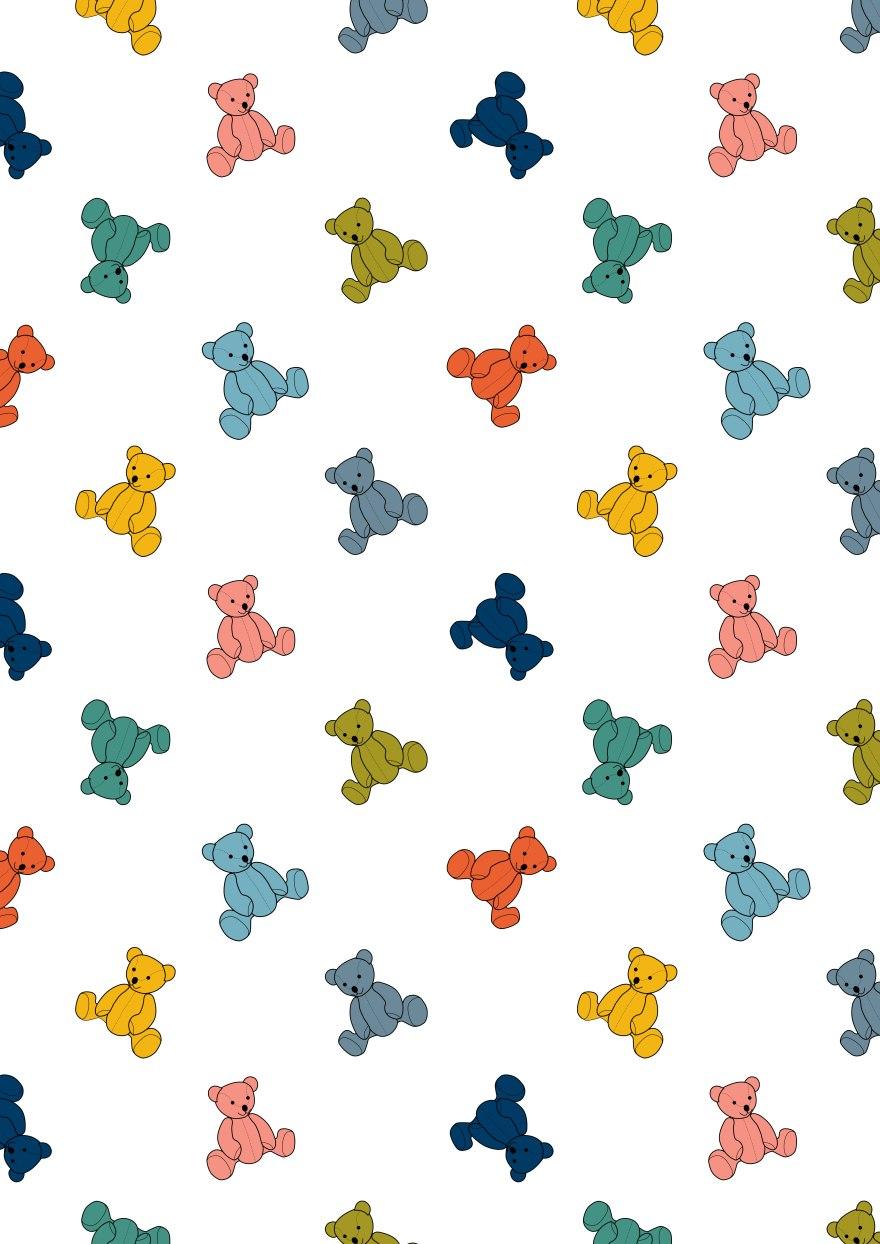 teddy-pattern-print